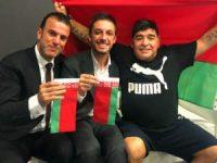 «Божья рука» Диего Марадоны прикоснулась к белорусскому футболу